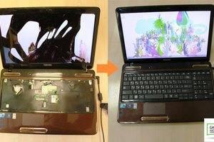 Замена матрицы, клавиатуры ноутбука