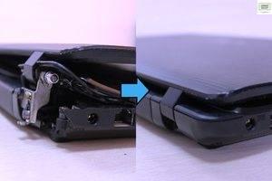 Ремонт нижнего поддона, замена петель ноутбука