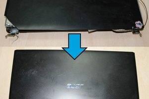 Замена верхней крышки, ремонт петель ноутбука