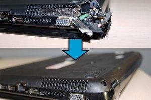 Замена нижнего поддона, ремонт шлейфа матрицы